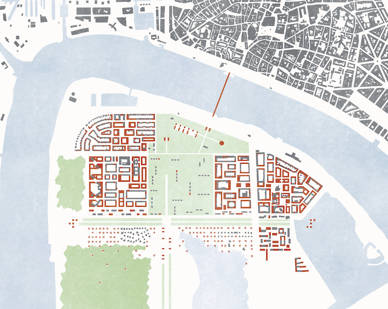 Lageplan Moccia, Schröder und Van Den Bergh