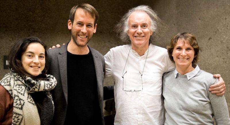 Professor Dr. Lohmann, Pierre Hebbelinck. Sabine Schmidt