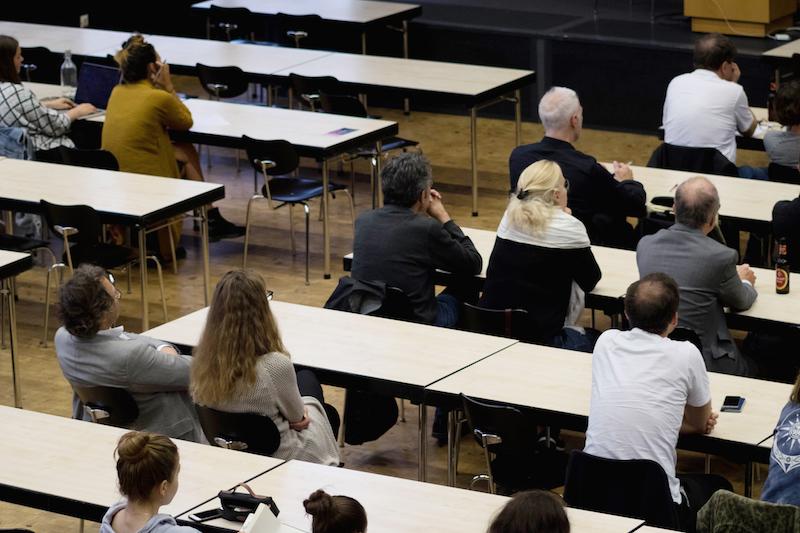 Das Publikum beim architectural tuesday