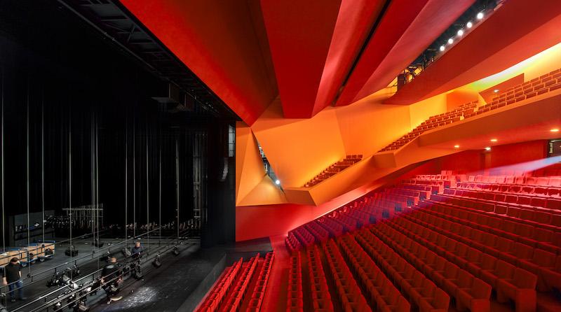 Innenraum Theater Théodore Gouvy in Freyming-Merlebach