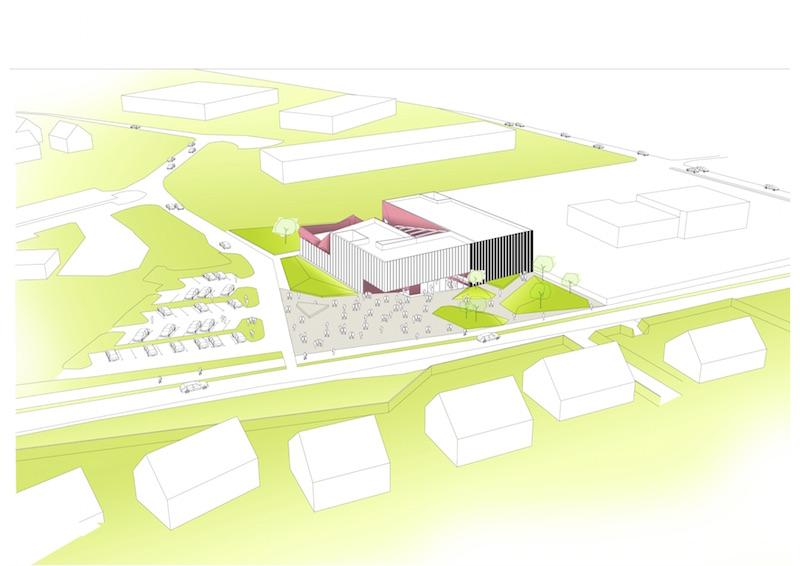 Kulturzentrum, Beaumont-Hague | Kubatur © Périphériques Architectes