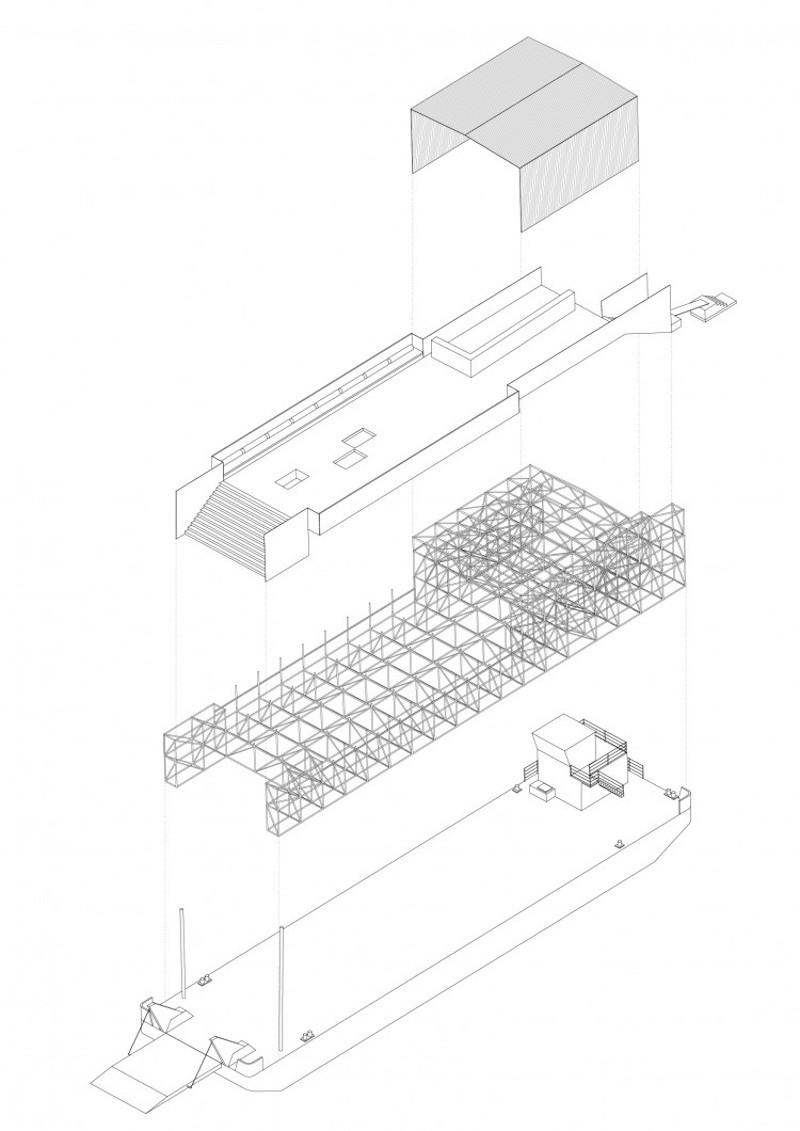 Bargenale I – Axonomietrie © David Leclerc Architecture