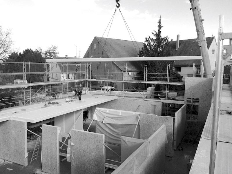 Kinder- und Familienzentrum   Bauprozess Neubau   © VON M