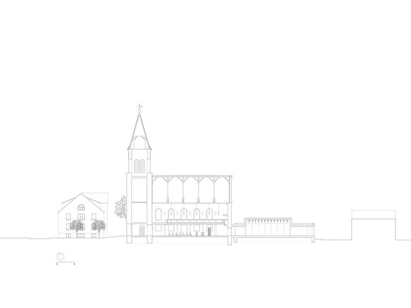 Christusgemeinde Kehl | Schnitt | © VON M